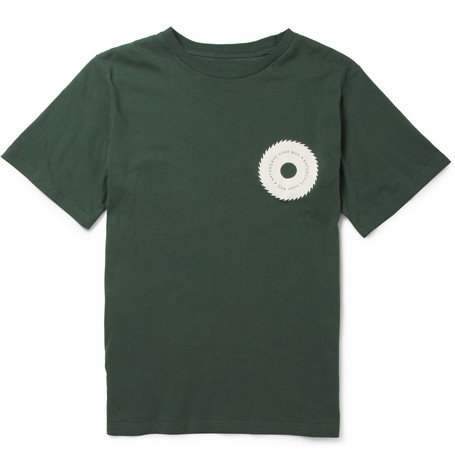 Saturdays Surf NYC Wave Wheel Cotton-Jersey T-Shirt