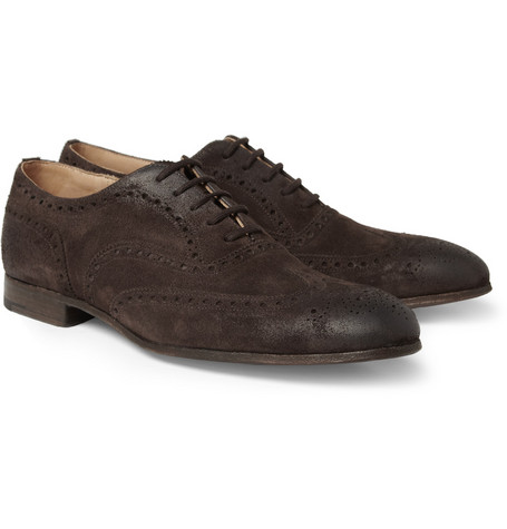 Church's Firbeck Oiled-Suede Wingtip Brogues