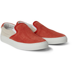 Diemme Two-Tone Suede Slip-On Sneakers