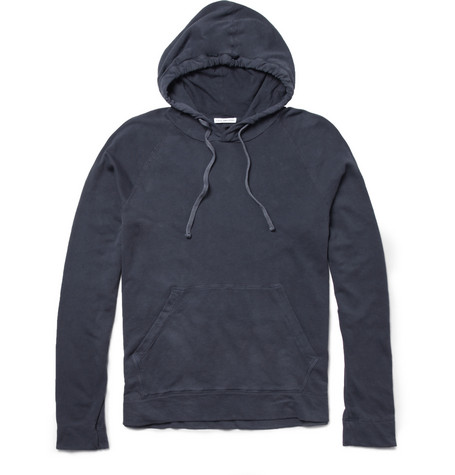 James Perse Lightweight Loopback Cotton-Jersey Hoodie