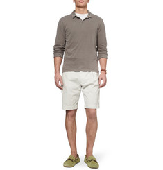 James Perse Long-Sleeved Cotton-Jersey Polo Shirt
