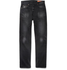 Jean Shop Rocker Straight-Leg Selvedge Denim Jeans