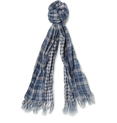 Jean Shop Double-Sided Check Cotton Scarf