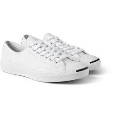 Converse Jack Purcell Textured-Leather Sneakers