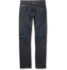 Edwin Sen Black Slim-Fit Selvedge Jeans