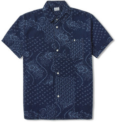 Edwin Nimes Short-Sleeved Print Denim Shirt