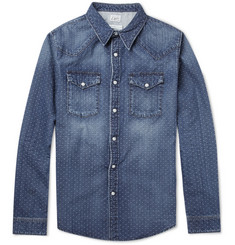 Edwin Memphis Slim-Fit Dobby-Stitched Denim Shirt