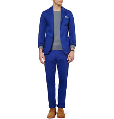 Oliver Spencer Blue Portland Cotton-Twill Suit Jacket