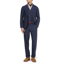 Oliver Spencer Slim-Fit Linen and Cotton Waistcoat
