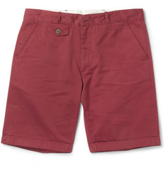 Oliver Spencer Slim-Fit Cotton-Twill Shorts