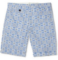 Oliver Spencer - Slim-Fit Printed Cotton Shorts