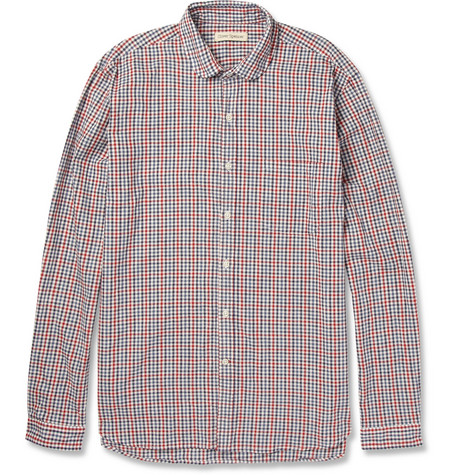Oliver Spencer Gingham Check Cotton Shirt