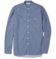 Oliver Spencer - Grandad-Collar Printed Cotton Shirt