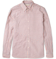 Oliver Spencer Sail Striped Cotton and Linen-Blend Shirt