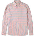 Oliver Spencer - Sail Striped Cotton and Linen-Blend Shirt