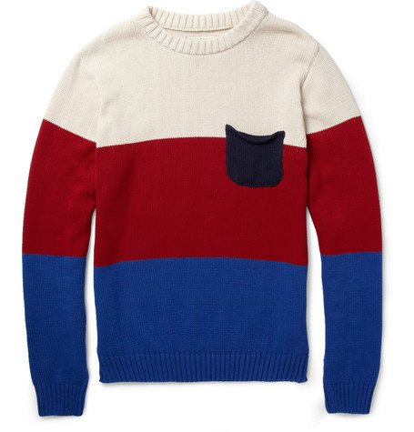 Oliver Spencer Block-Colour Cotton Sweater