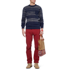 Oliver Spencer Knitted Cotton Crew Neck Sweater