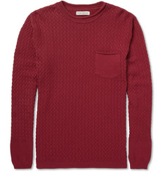 Oliver Spencer Lattice-Knit Cotton Crew Neck Sweater