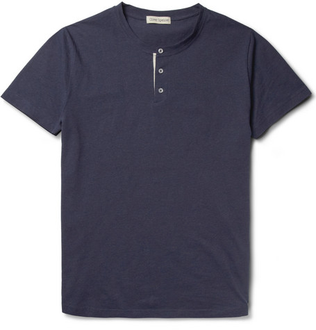 Oliver Spencer Peloton Cotton Henley T-Shirt