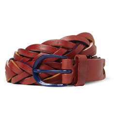 Oliver Spencer Woven-Leather Belt