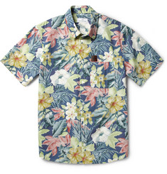 Hentsch Man Steve Slim-Fit Hawaiian-Print Cotton Shirt