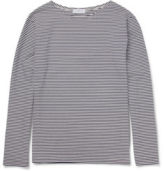 Hentsch Man Boat Striped Long-Sleeved Cotton T-Shirt