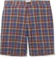 Hentsch Man - Plaid Cotton Bermuda Shorts
