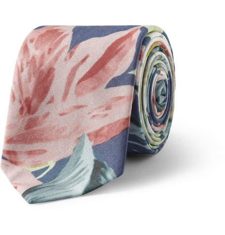 Hentsch Man Hawaiian-Print Cotton Tie