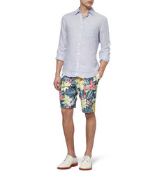 Hentsch Man Hawaiian-Print Cotton Shorts