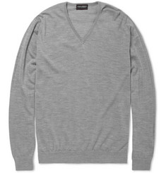 John Smedley Ciro Cashmere and Silk-Blend Sweater