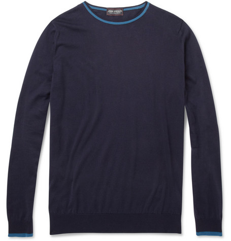 John Smedley Ulrich Fine-Knit Sea Island Cotton Sweater