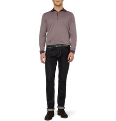 John Smedley Johnson Long-Sleeved Sea Island Cotton Polo Shirt
