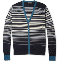 John Smedley Alec Striped Sea Island Cotton Cardigan