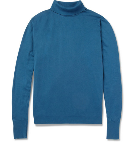 John Smedley Pembroke Sea Island Cotton Rollneck Sweater