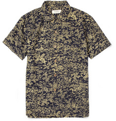 YMC Printed Silk-Blend Short Sleeved Shirt
