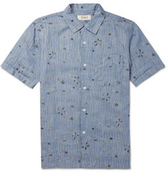 YMC Printed Lightweight Short-Sleeved Cotton Shirt