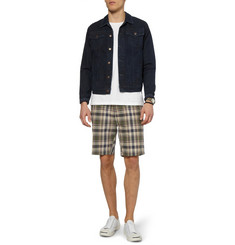 YMC Plaid Cotton Shorts