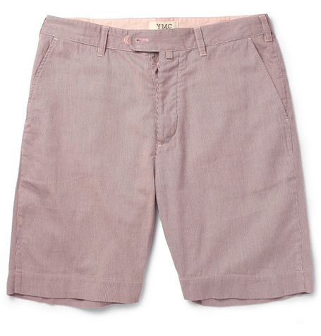 YMC Fine-Stripe Cotton Shorts