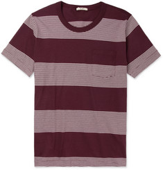 YMC Striped Cotton-Jersey T-Shirt