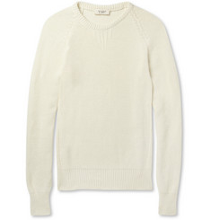 YMC Crew Neck Knitted Cotton Sweater