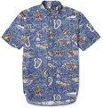 Gitman Vintage - Hawaiian-Print Short-Sleeved Cotton Shirt