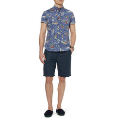 Gitman Vintage Hawaiian-Print Short-Sleeved Cotton Shirt