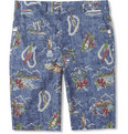 Gitman Vintage Hawaiian-Print Cotton Shorts