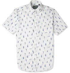 Gitman Vintage Pin-Up Print Short-Sleeved Cotton Shirt