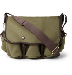 Bill Amberg Canvas and Leather Messenger Bag