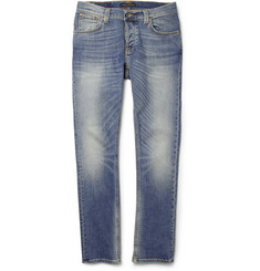 Nudie Jeans Grim Tim Washed Slim-Fit Organic Jeans