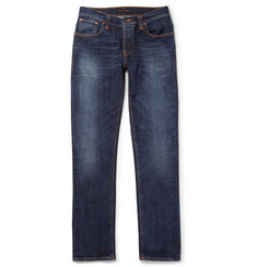 Nudie Jeans Grim Tim Slim-Fit Washed Organic Denim Jeans