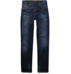Nudie Jeans Slim Jim Washed Straight-Leg Organic Jeans