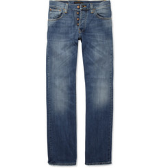 Nudie Jeans Average Joe Straight-Leg Faded Organic Jeans