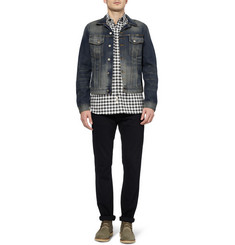 Nudie Jeans Perry Distressed Organic Selvedge Denim Jacket
